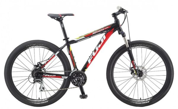 Fuji Nevada comp 27 5 1.7 D  2015  600x366 - Велосипед Fuji 2015 MTB мод. Nevada COMP 27-5 1.7 D USA A2-SL р. 23  цвет чёрно красно жёлтый