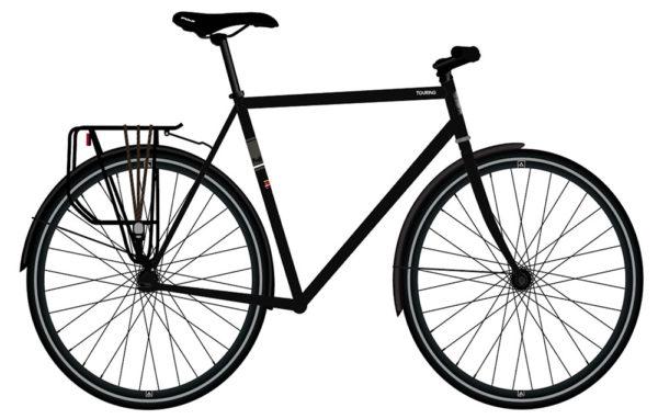 Велосипед Fuji 2021 TOURING мод. TOURING LTD Cr-Mo Reynolds 520 р. 52 цвет чёрный
