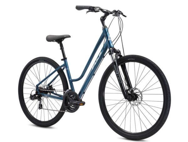 CROSSTOWN 1.5 biruza 1 600x454 - Велосипед Fuji 2021  COMFORT LADY мод. CROSSTOWN 1.5 LS USA A2-SL р. 19 цвет бирюзовый металлик