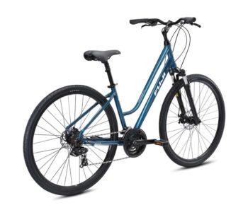 CROSSTOWN 1.5 biruza 2 350x297 - Велосипед Fuji 2021  COMFORT LADY мод. CROSSTOWN 1.5 LS USA A2-SL р. 15 цвет бирюзовый металлик