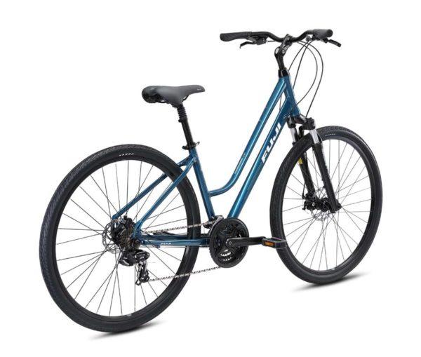 CROSSTOWN 1.5 biruza 2 600x509 - Велосипед Fuji 2021  COMFORT LADY мод. CROSSTOWN 1.5 LS USA A2-SL р. 19 цвет бирюзовый металлик