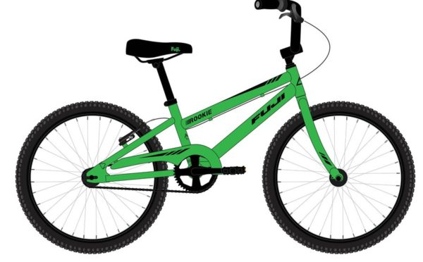 ROOKIE Green 600x372 - Велосипед Fuji 2021 LIFESTYLE KIDS мод. ROOKIE 16 BOY  A1-SL р. 16 цвет зелёный металик